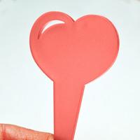 Blomskylt Hjärta, Röd, Hjärtformad blomskylt, färg röd