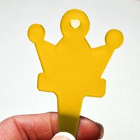 Blomskylt Krona, Brandgul, Blomskylt krona, färg gul