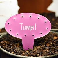 Blomskylt Oval, Rosa-Växtetikett oval