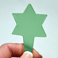 Blomskylt Stjärna, Grön-Växtetikett i form av en stjärna