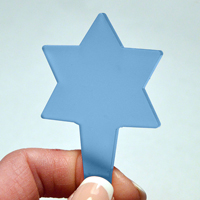 Blomskylt Stjärna, Blå, Växtetikett i form av en stjärna