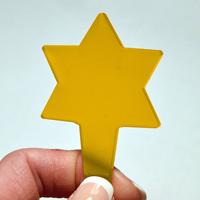 Blomskylt Stjärna, Brandgul, Växtetikett i form av en stjärna