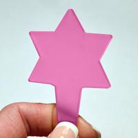 Blomskylt Stjärna, Rosa-Växtetikett i form av en stjärna