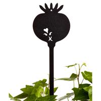 Såsticka svart-Såsticka i järn som växtskylt