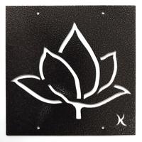 Tankeruta Lotus, copper, Trädgårdssmycket för växtstöd med lotusmotiv