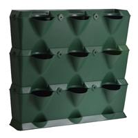 Minigarden Vertical - Växtvägg, grön-Odlingsvägg-växtvägg för inomhusodling och balkongodling