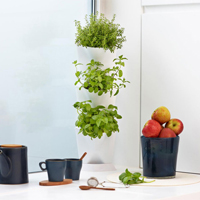 Minigarden Corner - vertikalodling vit, Minigarden corner - vertikal inomhusodling