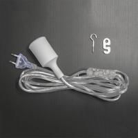 Kabelsats för E27-sockel, 4 meter-sladd - kabelsats för led- och lågenergiväxtlampor