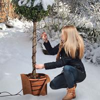 Frostskyddskabel 15 meter-Värmekabel 15 meter med termostat för växter utomhus