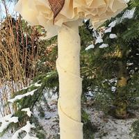 Vinterskyddsmatta fårull, vit,