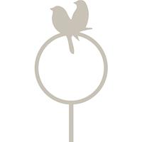 Dekorativ hållare till talgboll, fågelpar grå-Fågelmatare - dekorativ hållare för talgboll fågelpar grå