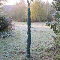 Jutefilt frostskyddsmatta, grön-Frostskyddsmatta i tovad jute
