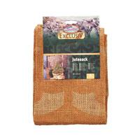 Jutesäck deko liten, natur-Jutesäck för vinterskydd med dekorativt mönster