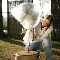 Fiberdukshuv rosskydd vit, 2-pack, Fiberdukshuv för växtskydd 2-pack