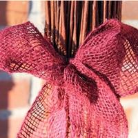 Dekorband jute, blackberry-Dekorband för säkring av vinterskydd
