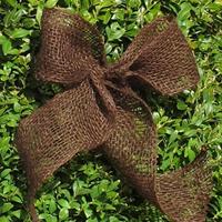 Dekorband jute, mörkbrunt-Dekorband för säkring av vinterskydd