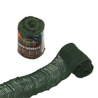 Dekorband jute, green,