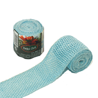 Dekorband jute, ice blue,