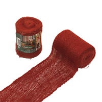 Dekorband jute, red,