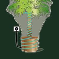 Frostskyddskabel 2 meter-Värmekabel för växter som övervintrar utomhus