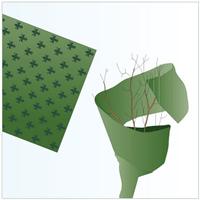 Vinterskydd juteväv, lilja grön,