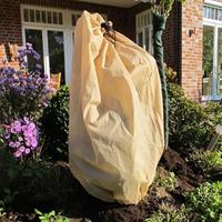 Vinterskydd Thermo, beige/brun, Fodrat vinterskydd för växter