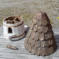 Klassisk rund fågelholk, modell duvslag, Fågelholk för småfågel - modell duvslag