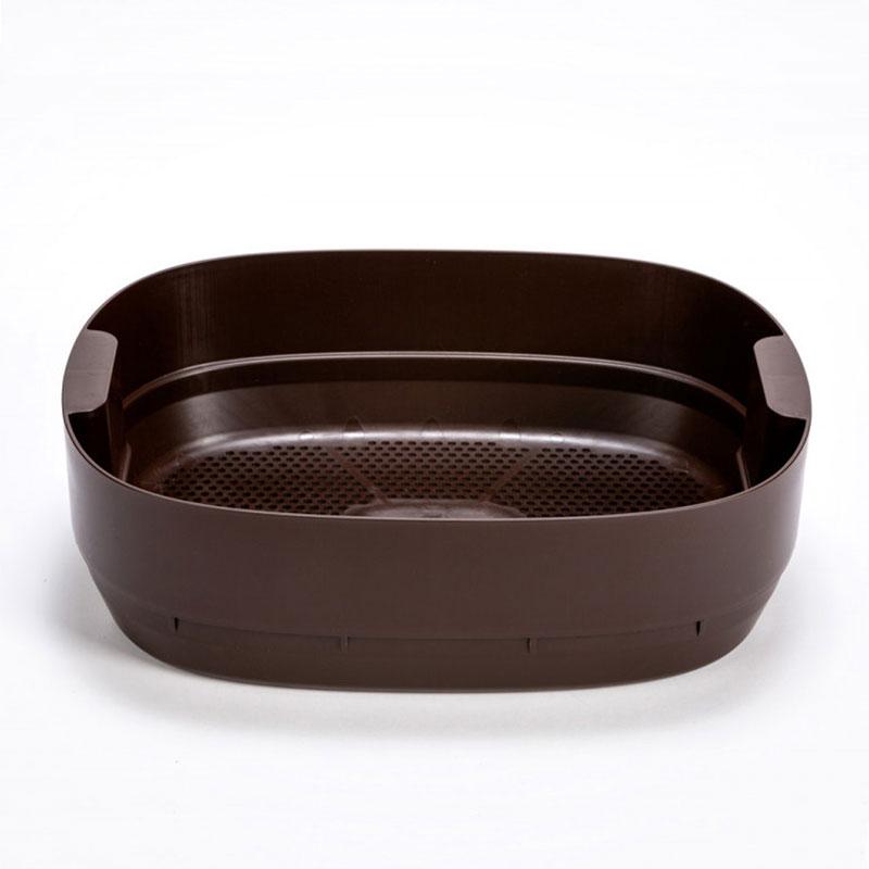 Kompostlåda till maskkompost 'UrbaLive', brun