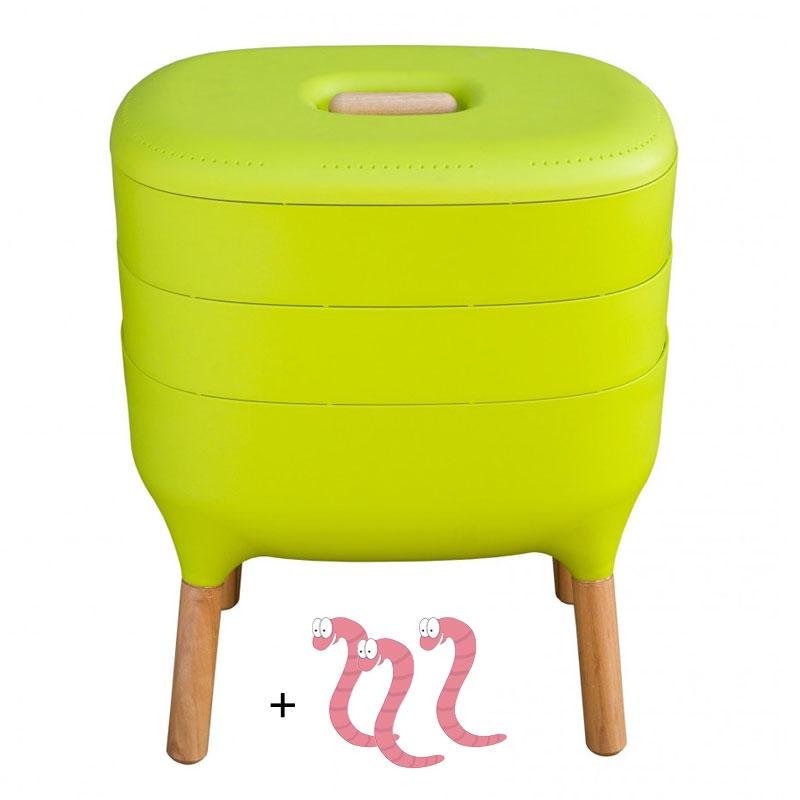Maskkompost UrbaLive med kompostmask, grön