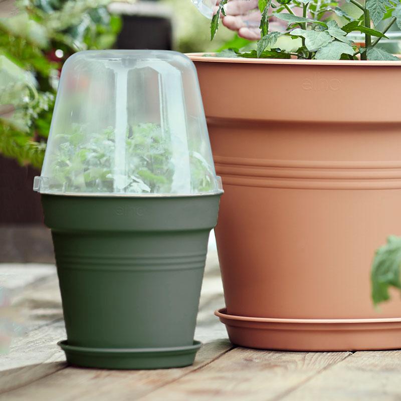 Minidrivhus, Green Basics, grön, 17 cm