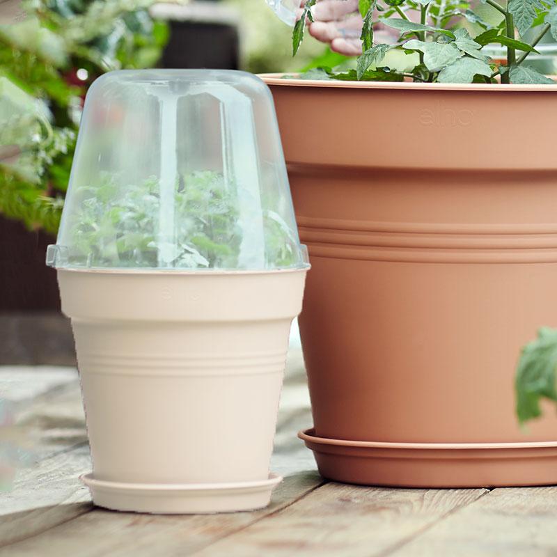 Miniväxthus, Green Basics, vit, 17 cm