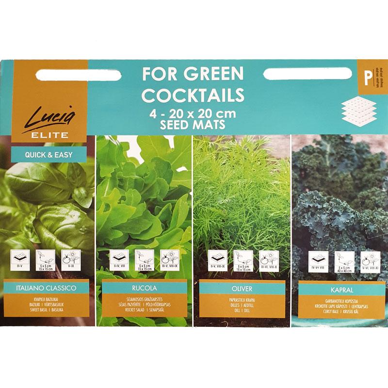 Frömattor grönmix, For Green Cocktails
