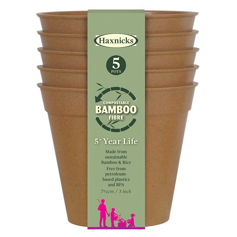 Bambukruka 7,5 cm terrakotta, 5-pack