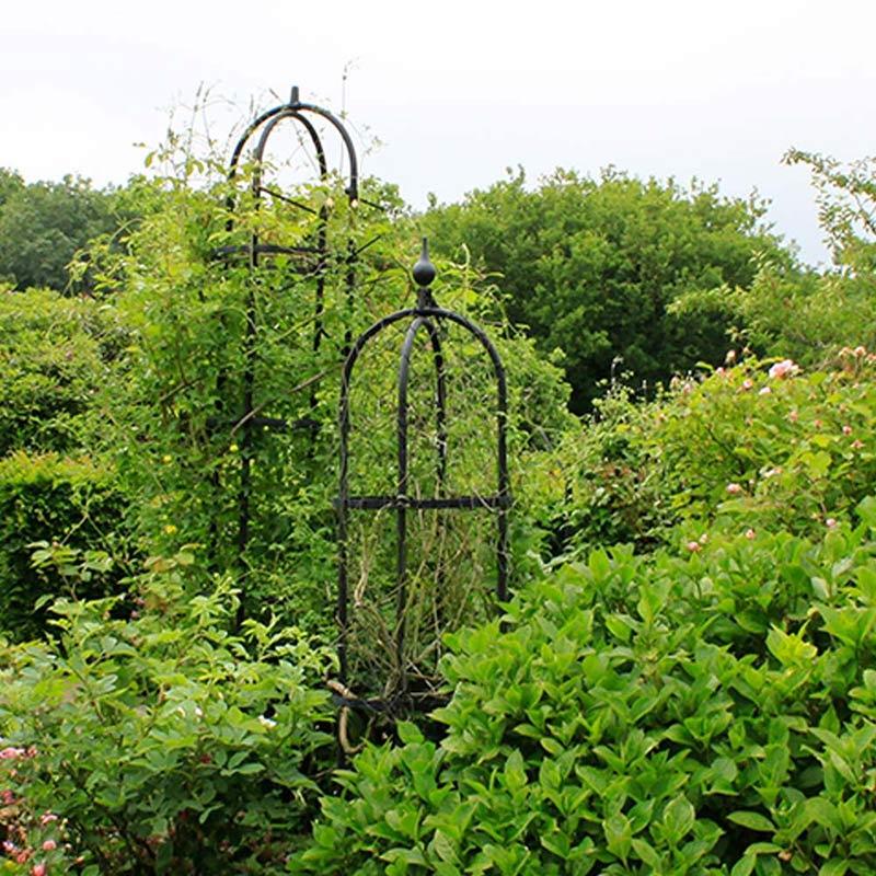 Växtstöd Obelisk Elegance svart, stor, Stöd för klätterväxter i smide, Obelisk Elegance