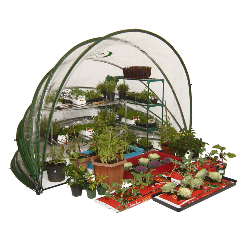 Utfällbart växthus, HortiHood 180-Utfällbart odlingsväxthus Horti Hood 180