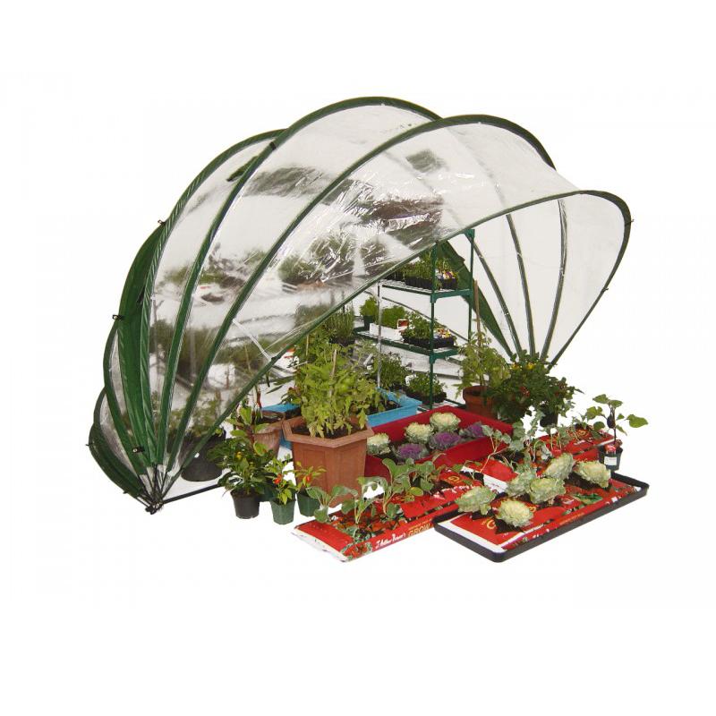 Utfällbart växthus, HortiHood 180, Horti Hood 180 fällbart växthus i plast