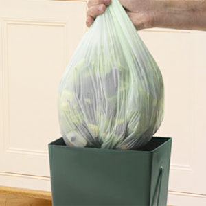 Biologiskt nedbrytbar påse till Compost Caddy - 10 liter, Biologiskt nedbrytbar kompostpåse till komposthink