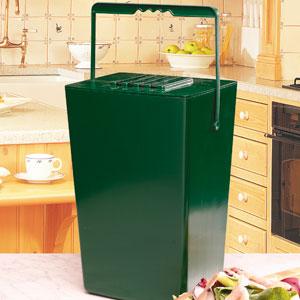 Compost Caddy - en luktfri komposthink - 9 liter, Luktfri Komposthink med kolfilter