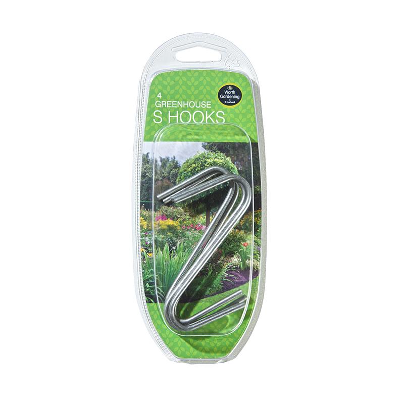 S-krokar för upphängning i växthus, 4 st