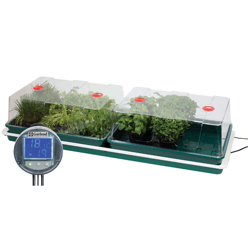 Minidrivhus med ställbar termostat 100W-Minidrivhus med termostat 100W