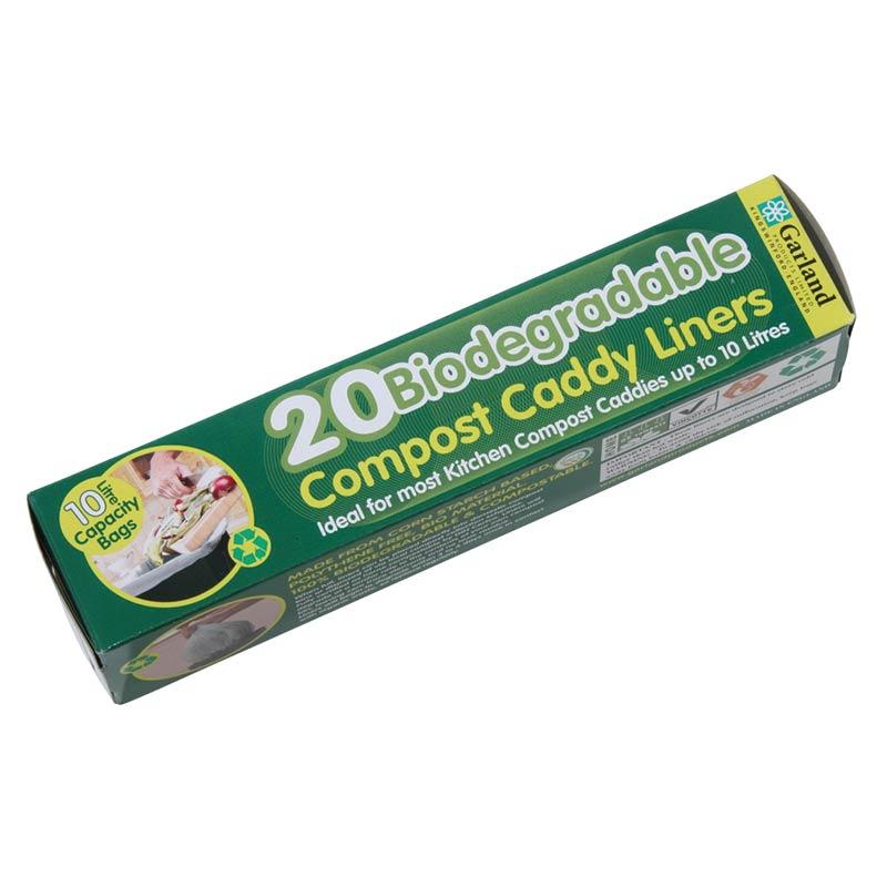 Biologiskt nedbrytbar påse till Compost Caddy - 9 liter, Biologiskt nedbrytbar kompostpåse till komposthink