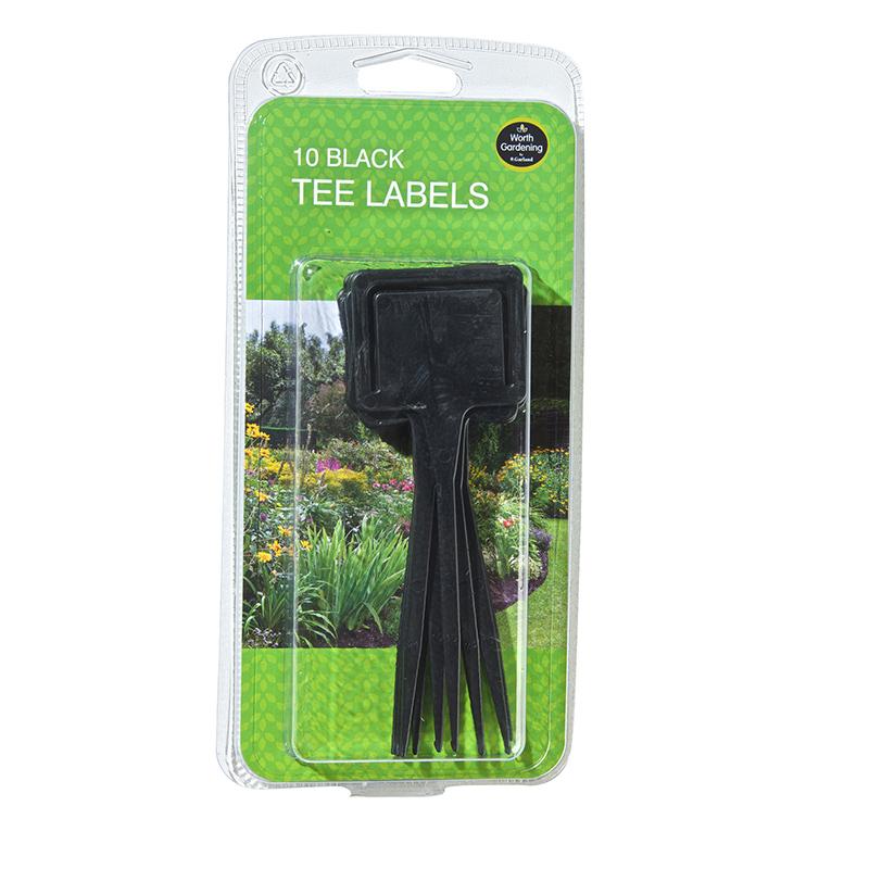 Svarta plantetiketter för frösådd och plantor.