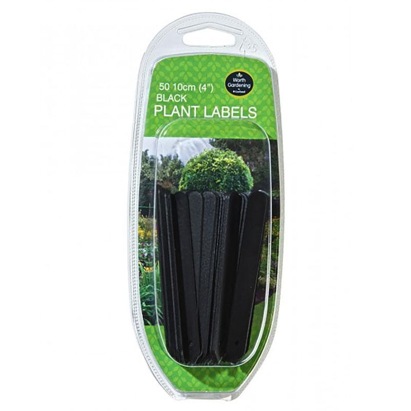 Svart växtetikett 10 cm, 50-pack, Svart växtetikett 10 cm, 50-pack