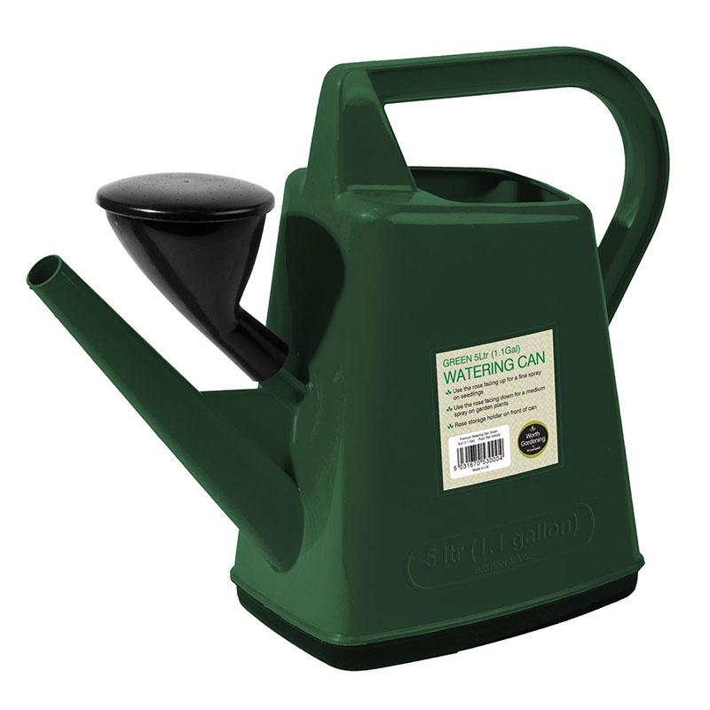 Vattenkanna med stril 5L, grön-Grön vattenkanna 5L
