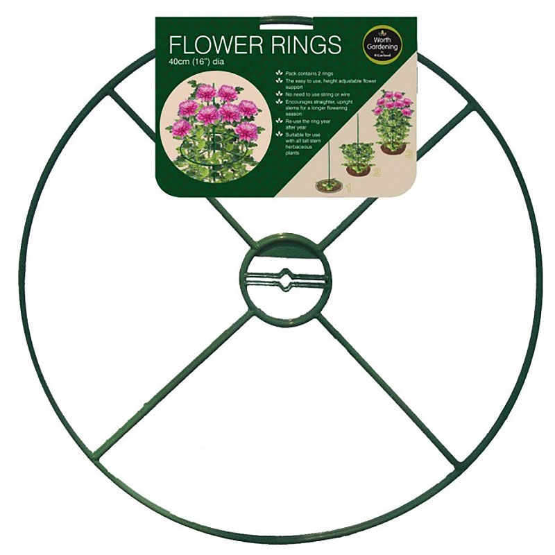 Växtstöd ring, 40 cm, 2-pack, Växtstöd ring, 40 cm, 2-pack
