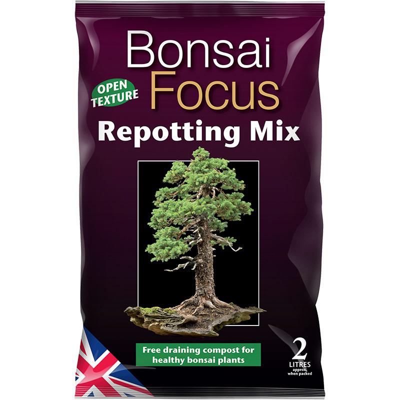 Bonsai Focus - bonsaijord, 2 liter, Bonsai Focus Repotting Mix - specialjord för bonsaier