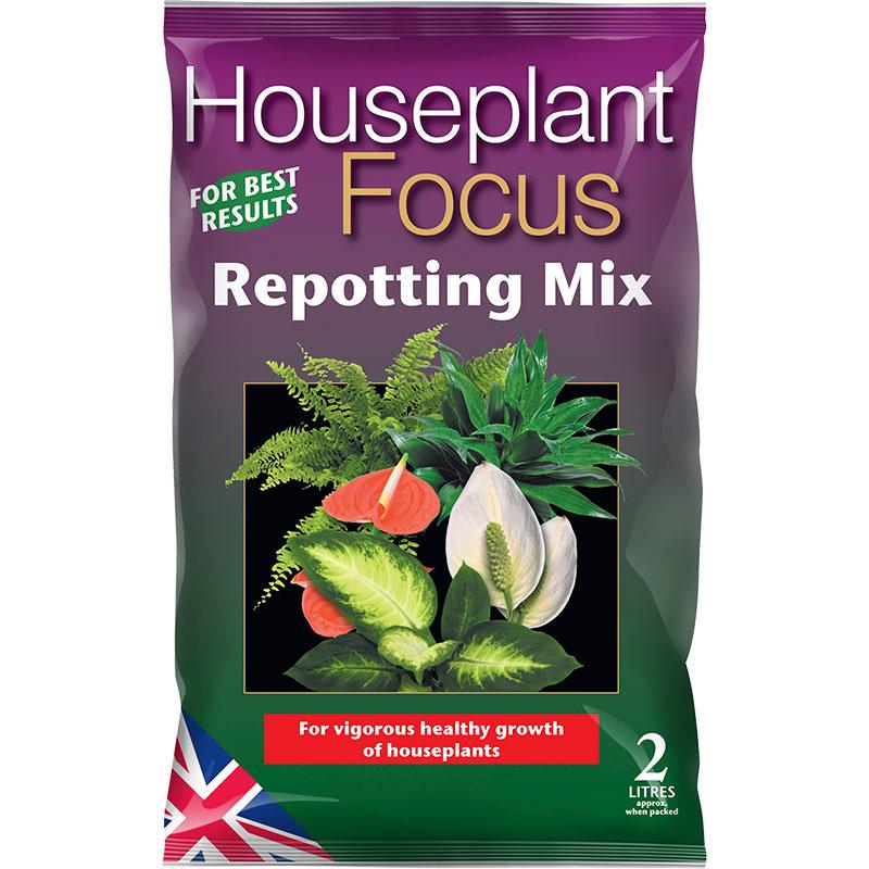 Houseplant Focus - krukväxtjord, 2 liter, Housplant Focus Repotting Mix - specialjord för krukväxter