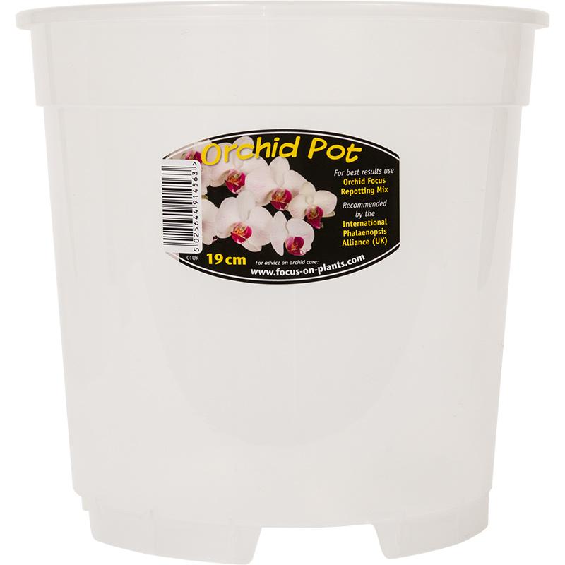 Orkidékruka - Orchid Pot 19 cm, Genomskinlig orkidekruka för orkideer