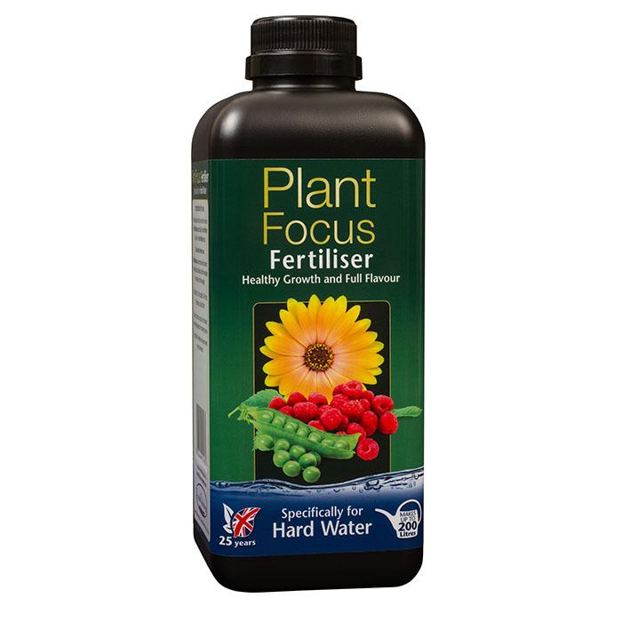 Plant Focus Hard Water, 1 liter, Komplett näring för krukodling och odlingssäckar