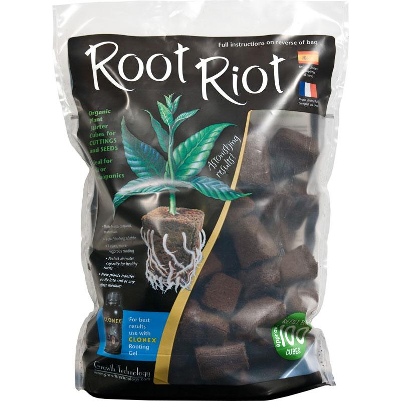 Root Riot, 100-pack, Rotnings-odlingskuber för snabb och säker rotning av fröer och sticklingar.